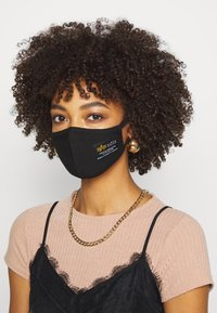 Alpha Industries - CREW FACE MASK - Community mask - black - 2