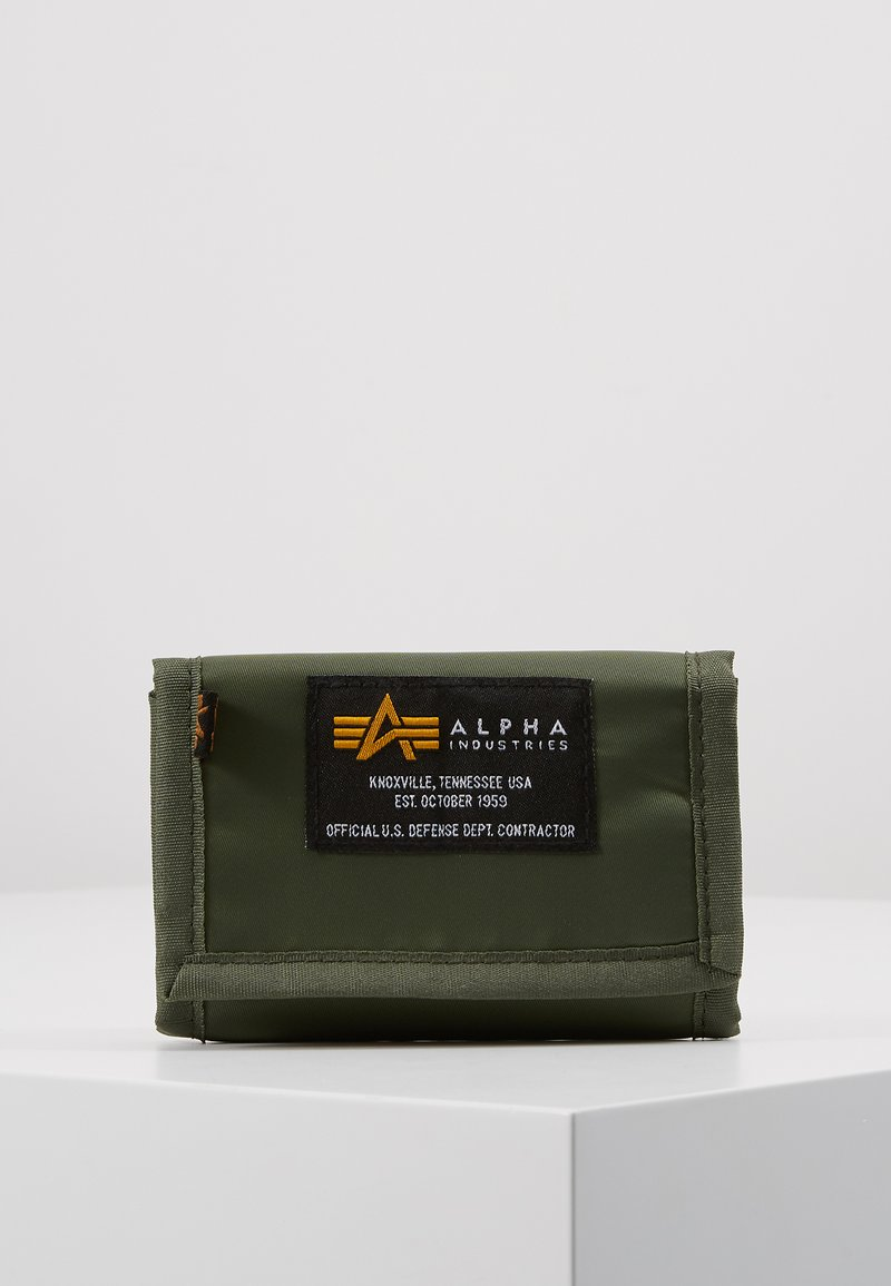 Alpha Industries - CREW WALLET - Portfel - sage green