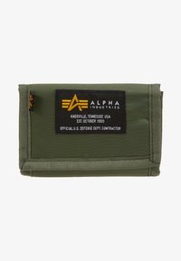 Alpha Industries - CREW WALLET - Portfel - sage green - 1