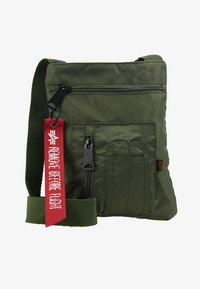 Alpha Industries - CREW MESSENGER BAG - Sac bandoulière - sage green - 1