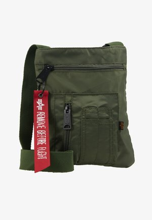 CREW MESSENGER BAG - Schoudertas - sage green