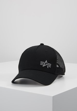 TRUCKER SMALL LOGO - Lippalakki - black