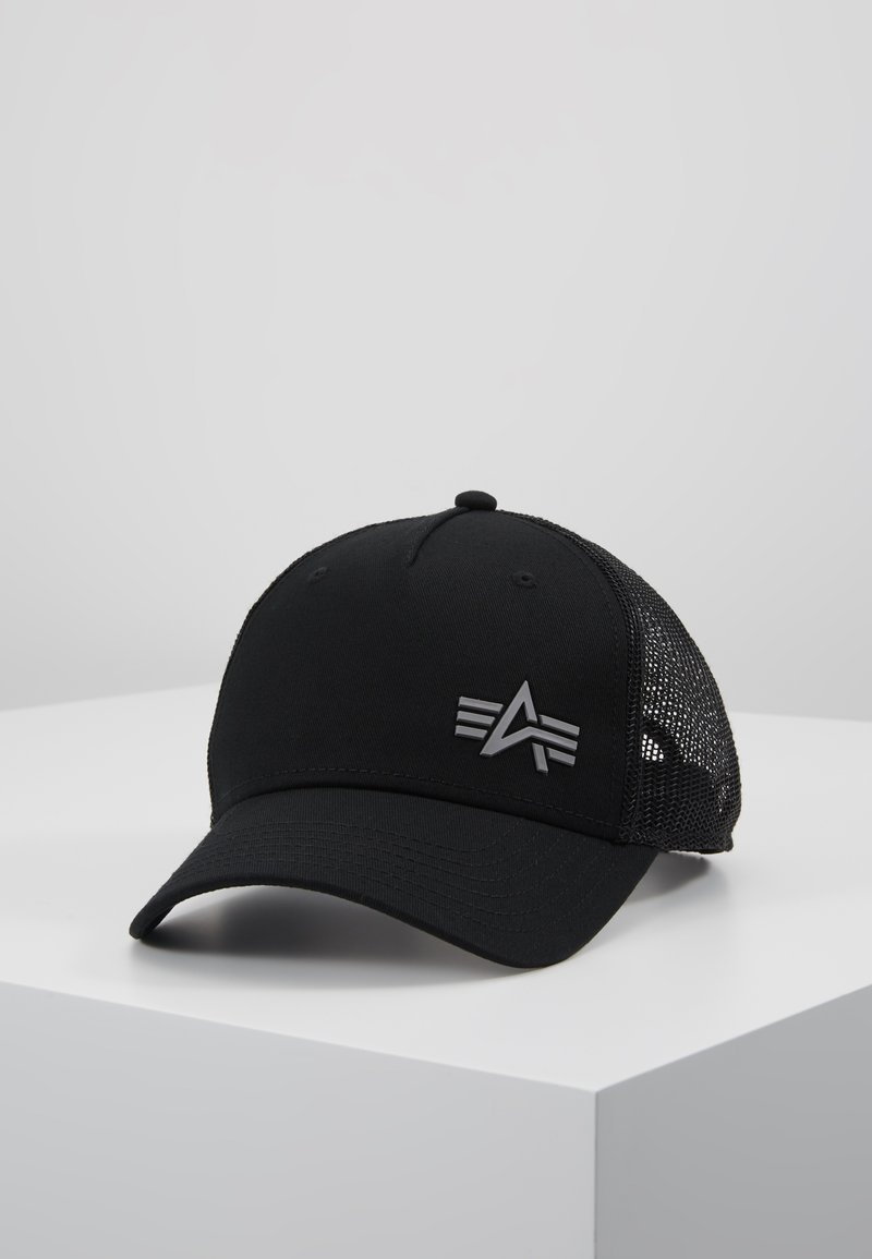 Alpha Industries - TRUCKER SMALL LOGO - Gorra - black