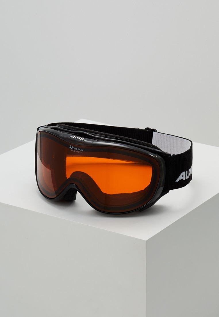 Alpina - CHALLAGE - Ski goggles - black transparent