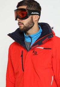 Alpina - CHALLAGE - Ski goggles - black transparent - 1