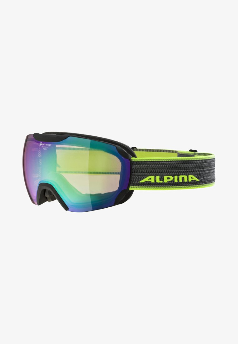 Alpina - Sports glasses - schwarz/neongelb