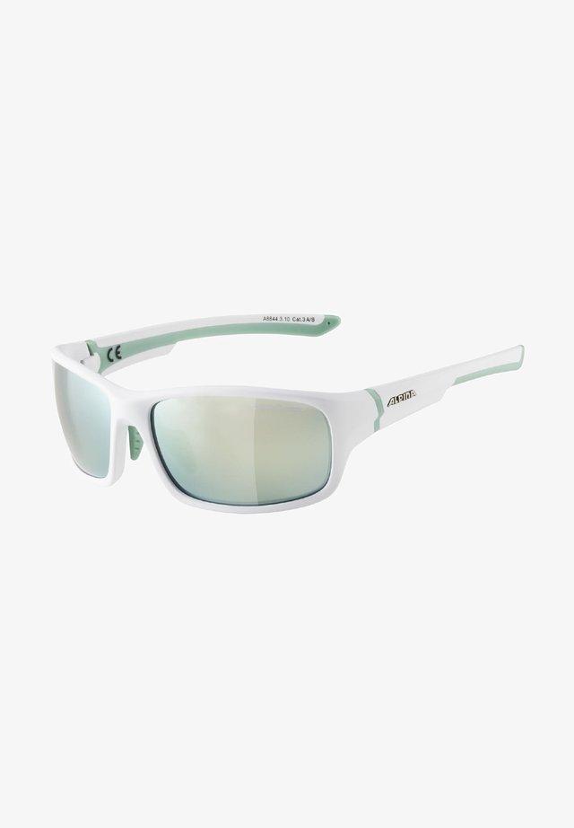 LYRON - Sports glasses - white matt-pistachio