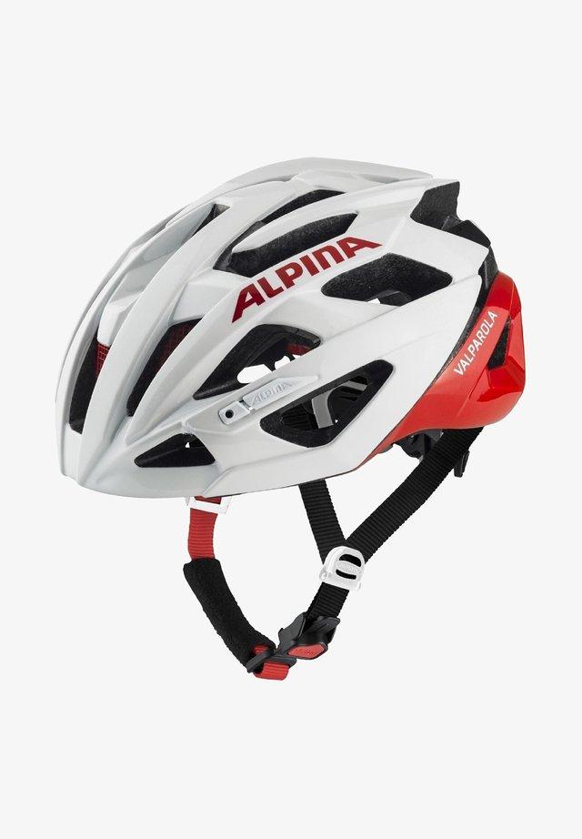 Helmet - white-red (a9721.x.10)