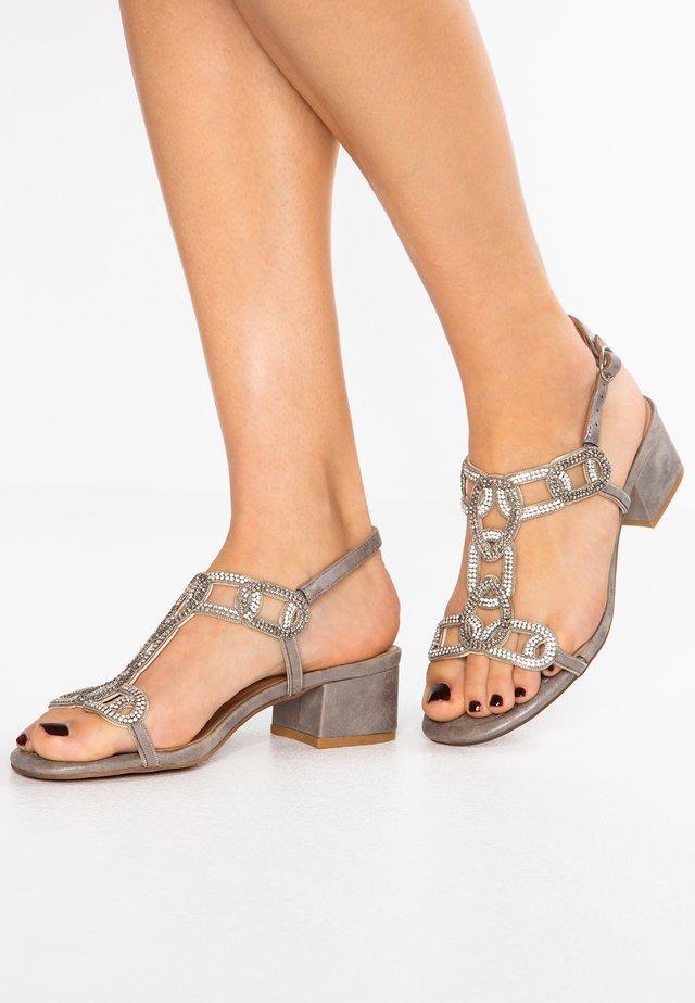 Højhælede sandaletter / Højhælede sandaler - oporto pewter