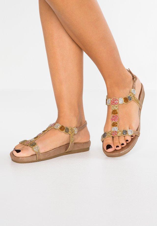 Sandalen - oporto bronze