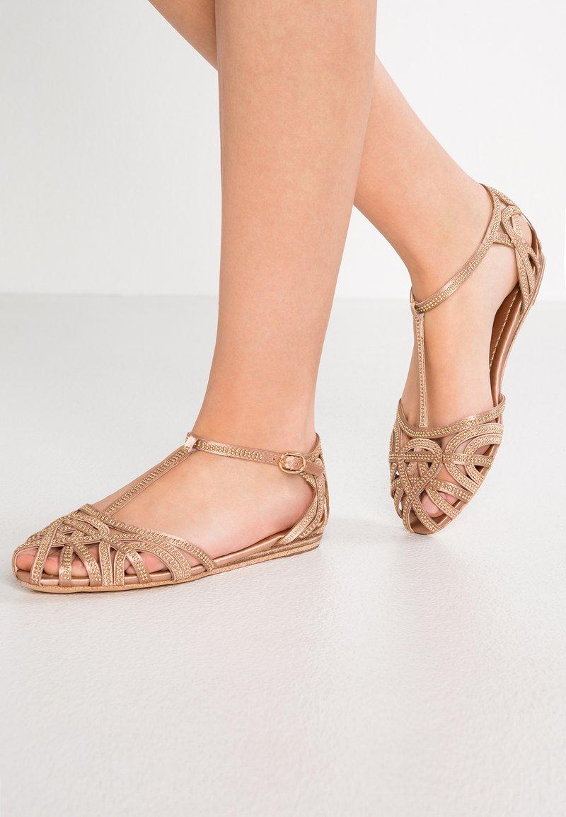 Alma en Pena - Ankle strap ballet pumps - old pink