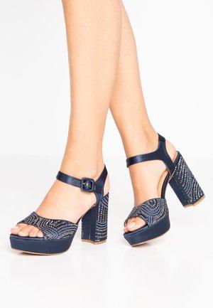 High heeled sandals - blue