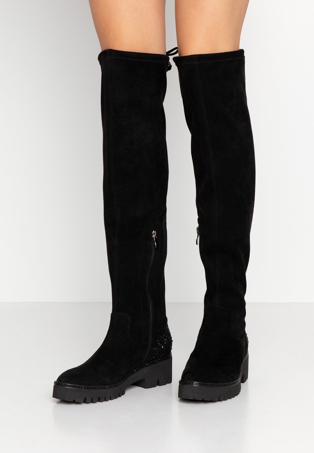 Over-the-knee boots - siena black