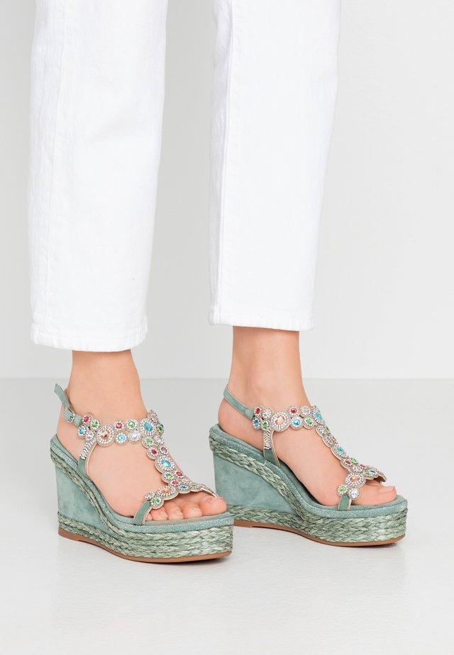 Sandalen met hoge hak - mint