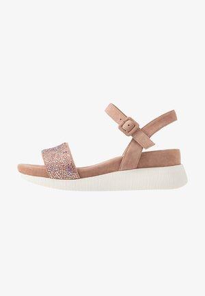 Sandalen met plateauzool - old pink