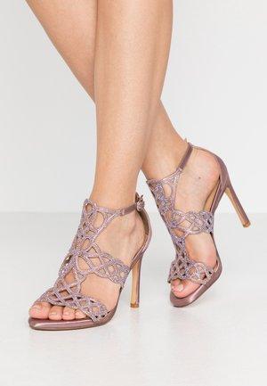 High heeled sandals - purple