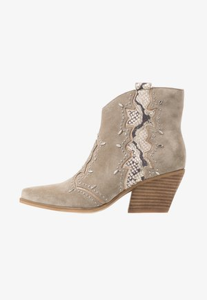 Cowboy/biker ankle boot - crosta taupe