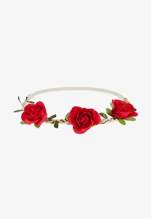 HAARBAND ROSEN BLÜTEN - Hair styling accessory - rot