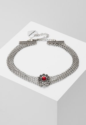 LUZIA - Collar - silver-coloured/red