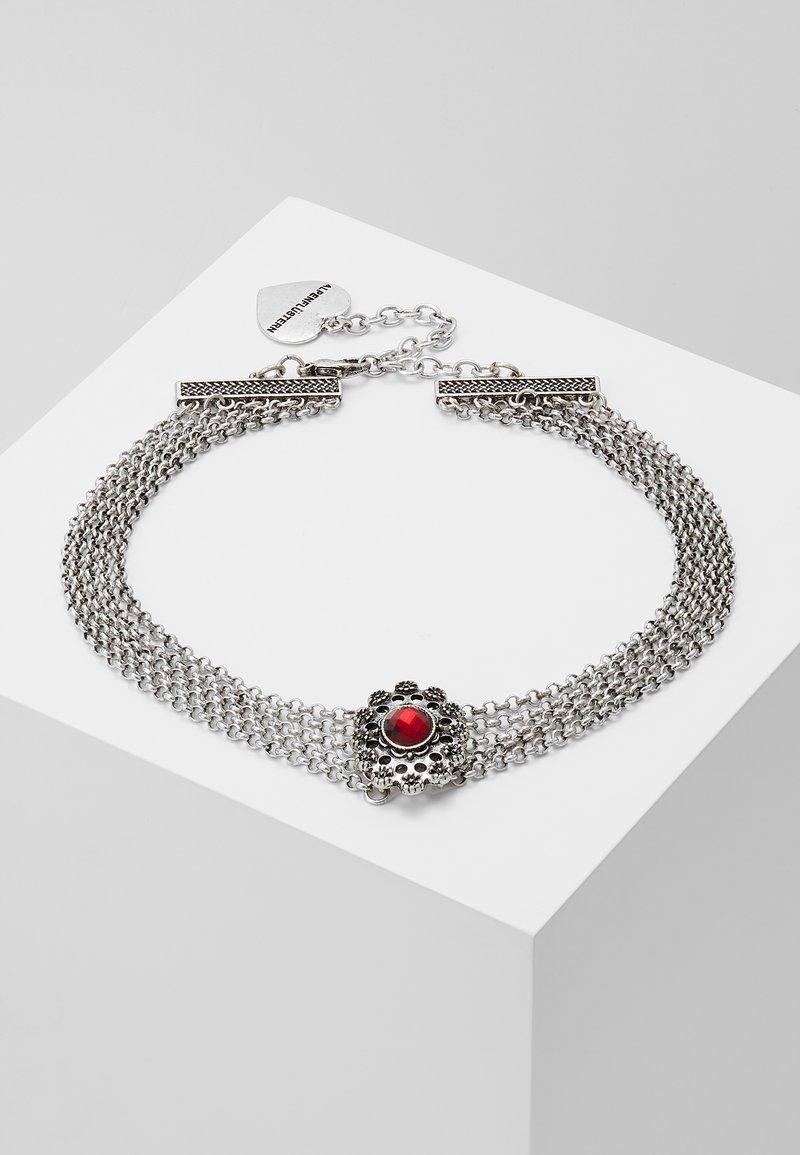 Alpenflüstern - LUZIA - Halsband - silver-coloured/red