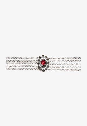 LUZIA - Necklace - silver-coloured/red