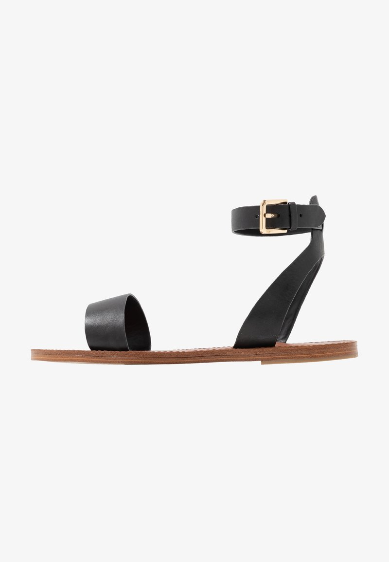 ALDO Wide Fit - WIDE FIT CAMPODORO - Sandaalit nilkkaremmillä - black