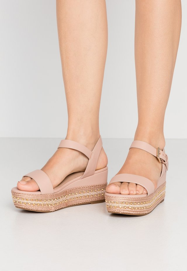 WIDE FIT MAUMA - Platform sandals - other pink