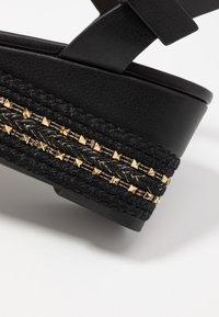 ALDO Wide Fit - WIDE FIT MAUMA - Korkeakorkoiset sandaalit - other black - 2
