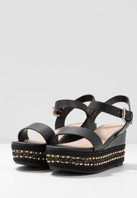 ALDO Wide Fit - WIDE FIT MAUMA - Korkeakorkoiset sandaalit - other black - 4