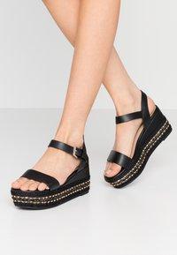 ALDO Wide Fit - WIDE FIT MAUMA - Korkeakorkoiset sandaalit - other black - 0