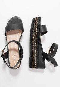 ALDO Wide Fit - WIDE FIT MAUMA - Korkeakorkoiset sandaalit - other black - 3