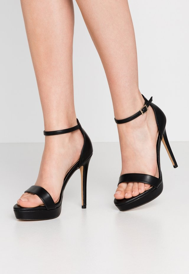 WIDE FIT MADALENE - High heeled sandals - black