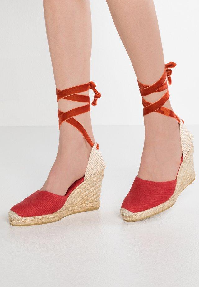 CLARA BY DAY - Sandalen met hoge hak - red