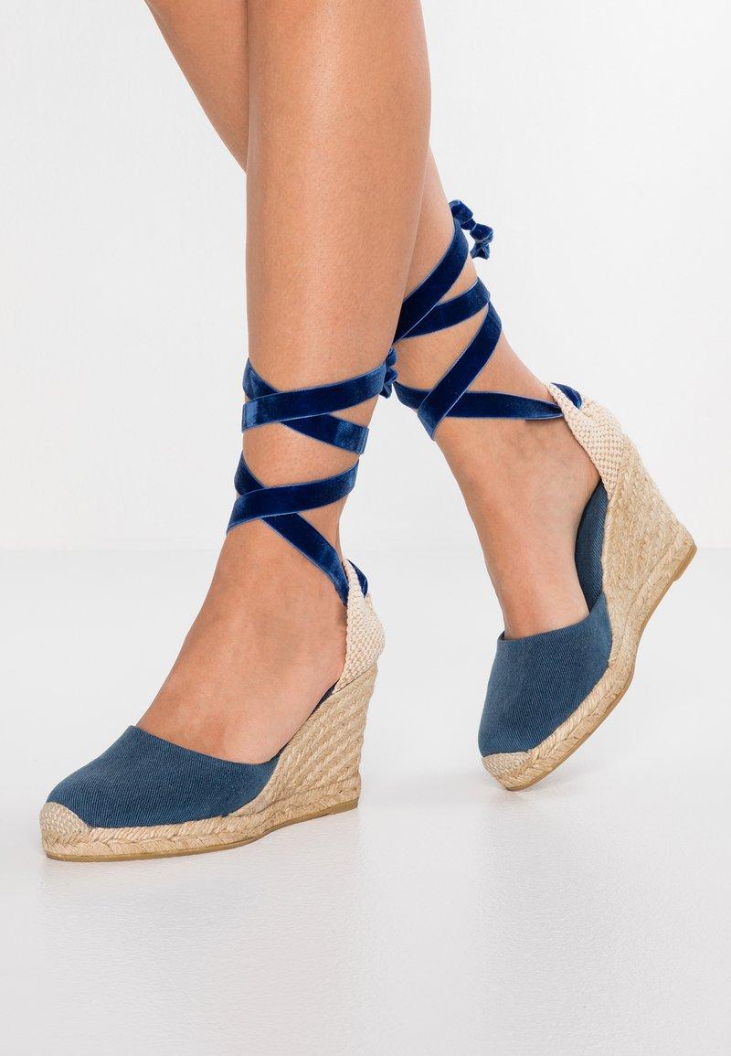 ALOHAS - CLARA BY DAY - Sandaler med høye hæler - stone aqua