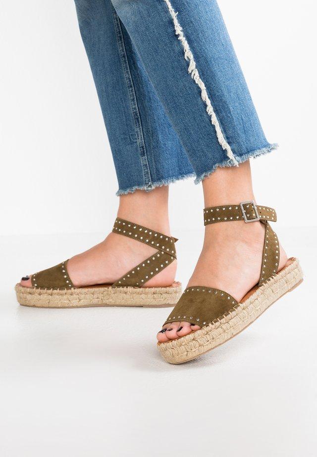 ROME STUDDED - Platform sandals - olive