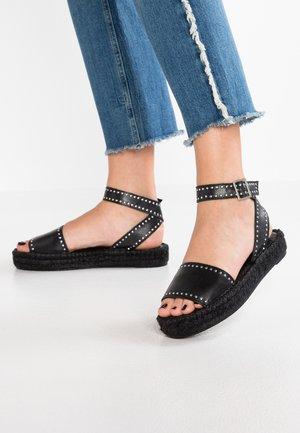 ROME STUDDED - Platform sandals - black