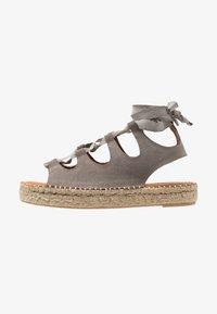 ALOHAS - GLADIATOR - Platform sandals - stone - 1