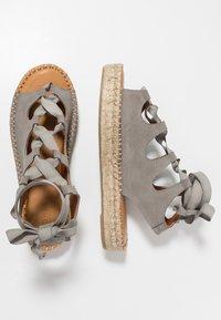 ALOHAS - GLADIATOR - Platform sandals - stone - 3