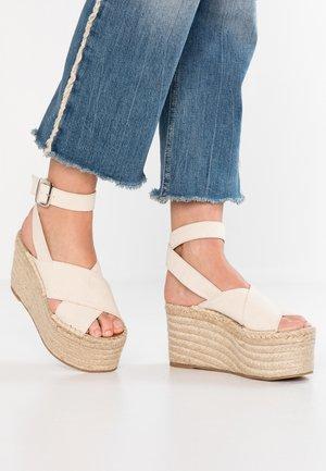 VEGAS - High heeled sandals - wheat