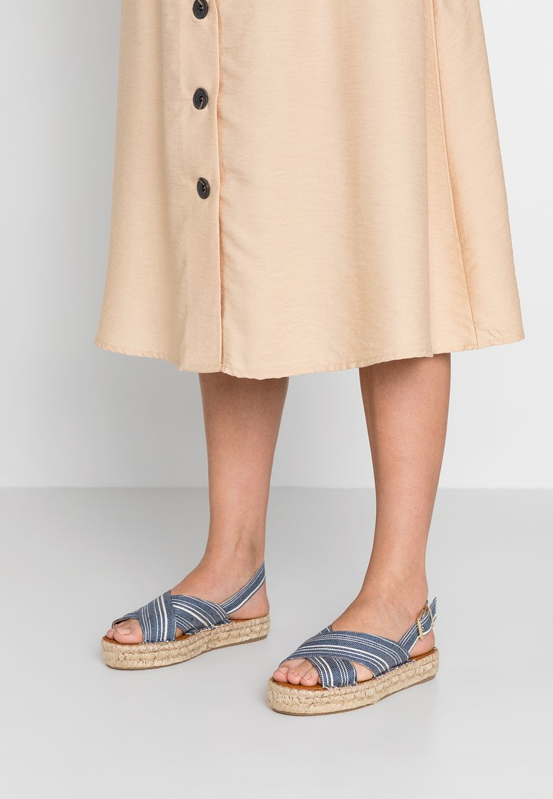 ALOHAS - Platform sandals - navy