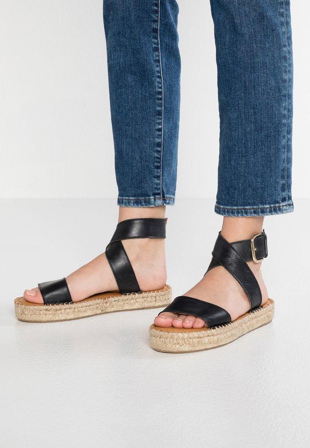VENUS - Sandaalit nilkkaremmillä - black