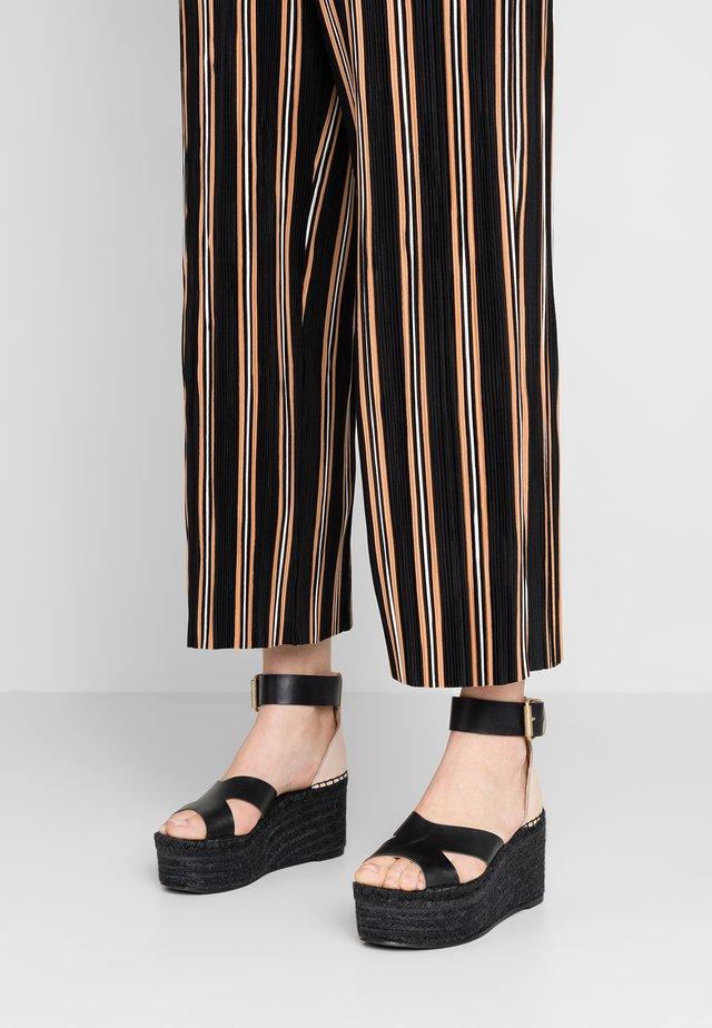 KUKO - Korolliset sandaalit - black