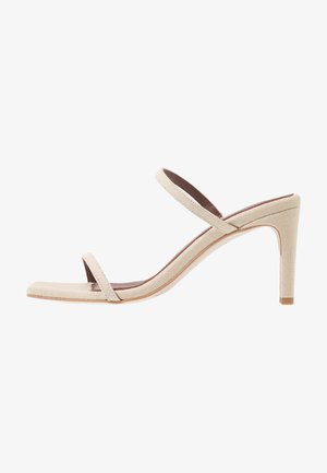 CANNES - Heeled mules - beige