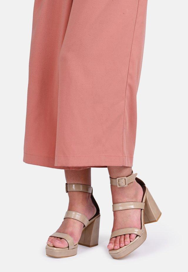 LINDEZA - High heeled sandals - beige