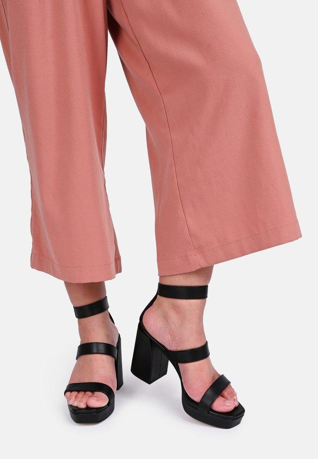 LINDEZA - High heeled sandals - black