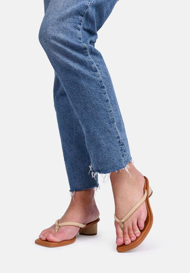BEIJO - T-bar sandals - beige