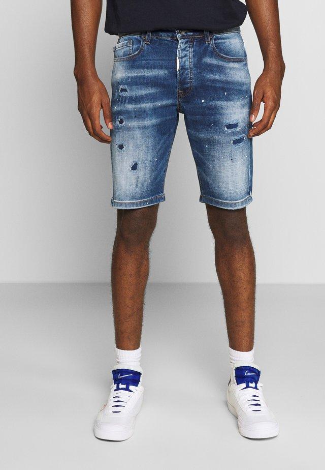 Jeansshort - indigo