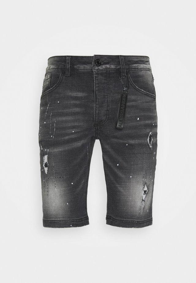 ALESSANDRO ZAVETTI ACARDI - Jeansshort - black wash