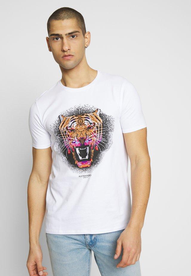 GROWLER  - T-Shirt print - white