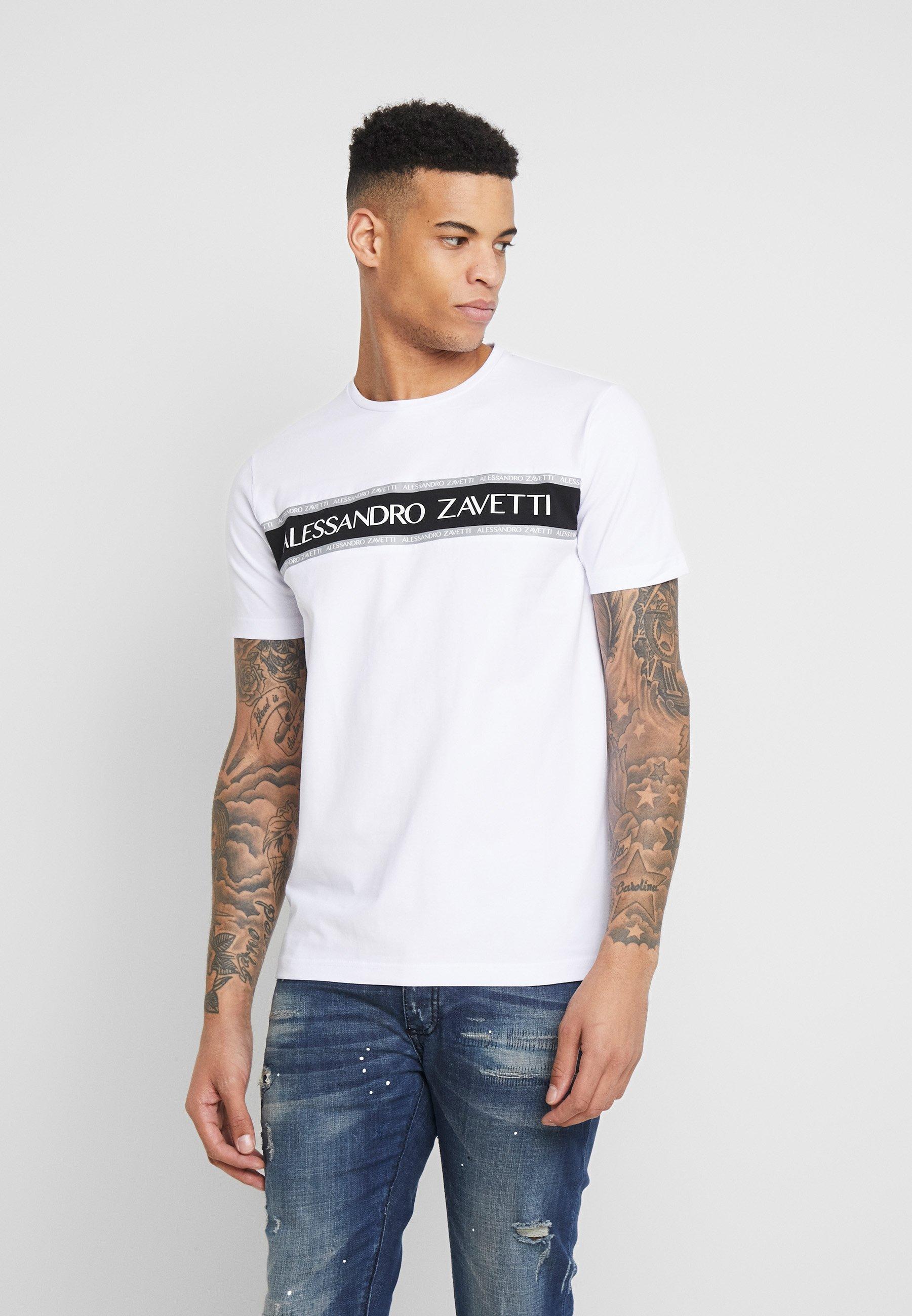 Alessandro Zavetti LEONDRO  - T-shirt z nadrukiem - white